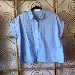 Everlane button up dress top